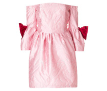 off-shoulder jacquard dress