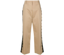 cropped trousers with a side lace trim