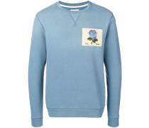 Sweatshirt mit Rosenstickerei
