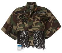 Camouflage-Jacke mit Spitze