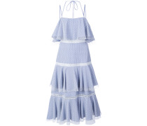 halterneck tiered dress