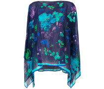 printed cape blouse