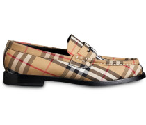 Vintage Check Cotton Loafers