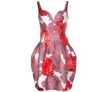 Rückenfreies Kleid mit Blumen-Print