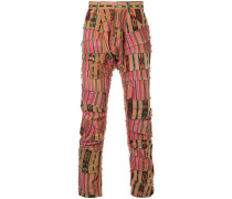 patchwork striped trousers
