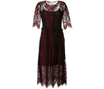 lace embroidered midi dress