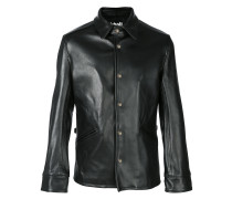 button straight-fit jacket