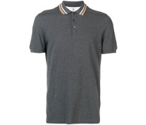 Poloshirt mit gestreiftem Kragen