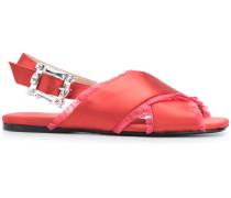 'Ave' Sandalen aus Seidensatin