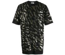 Oversized-T-Shirt mit Pailletten