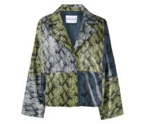 Oversized-Jacke mit Print