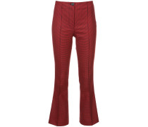 houndstooth flared trousers