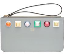 studded logo purse
