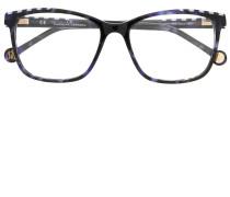 Brille mit Streifen