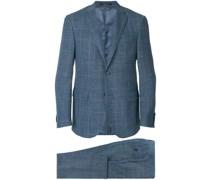plaid single breasted suit