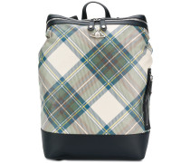 tartan box backpack