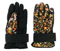 Handschuhe mit Blumenmuster