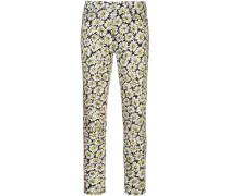 Jeans mit Blumen-Print