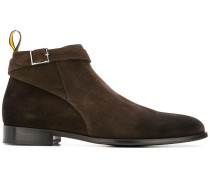 buckle low-top boots