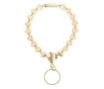 organic brass hoop necklace