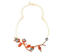Halskette mit Blumenanhängern