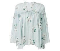 floral print fluid blouse