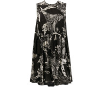 A-Linien-Kleid mit Phoenix-Print