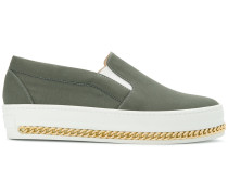 slip-on curb chain sneakers