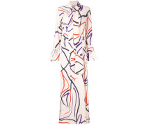 Hemdkleid mit abstraktem Print