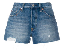 Jeanshorts in Distressed-Optik
