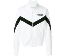 Zweifarbige Sweatshirtjacke im Retro-Look
