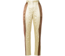 panelled high waisted trousers