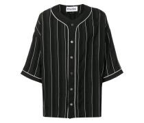Baseball-Hemd mit Nadelstreifen