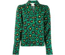 'Viola Flower Leopard' Bluse
