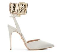 contrast ankle strap pumps