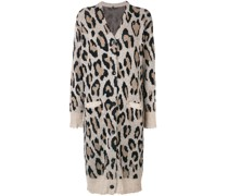 cashmere long leopard cardigan