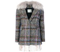 plaid embroidered jacket