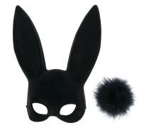 Set aus Kaninchenmaske und Pompon