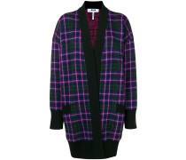 checkered cardi-coat