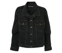 double-collar denim jacket