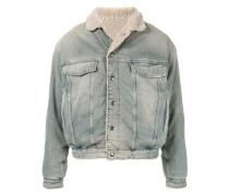 shearling lined denim jacket