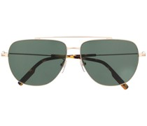squared-edge aviator sunglasses