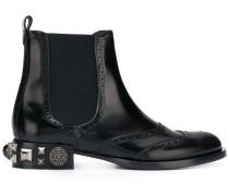 Chelsea-Boots mit verziertem Absatz