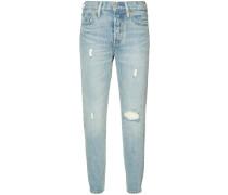 Cropped-Skinny-Jeans im Used-Look