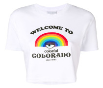"""T-Shirt mit """"Welcome To Colorado""""-Print"""