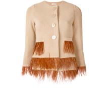 feather embellished jacket
