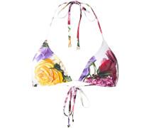 Bikinioberteil mit Blumen-Print