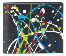 Portemonnaie mit Farbklecks-Print