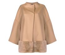 fur-trimmed coat
