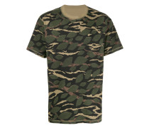 floral-camouflage print T-shirt